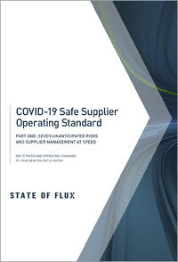 State of Flux - COVID-19 Safe Supplier Operating Standard - Part One
